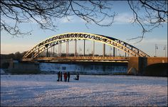 https://flic.kr/p/7Cv8dg | Sternbrücke | pedestrian bridge accross the Elbe river in Magdeburg