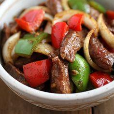 Black Pepper Steak Ingredients 8 ozs beef tenderloin (flank steak or ...