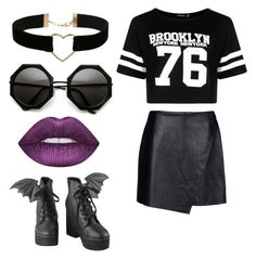"""""""Untitled #287"""" by bandsdestroyamylife on Polyvore featuring Helmut Lang, Boohoo, Iron Fist, Lime Crime and Miss Selfridge"""