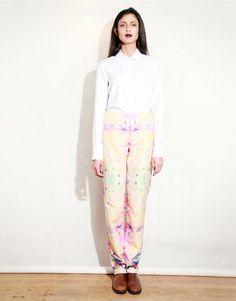 Katie Darlington AW13 Iris Print Suit Trouser Photographer: Levi MAcdonald. MUA: Molly Sheridan.