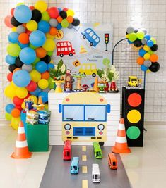 2nd Birthday Party For Boys, Candy Theme Birthday Party, Cars Birthday Parties, Transportation Birthday, Birthday Party Decorations Diy, Bernardo, Website, Toddler Boy Birthday, Dump Truck Party