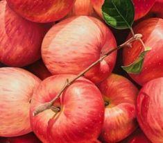 윤병락사과그림 Candy Apples, Caramel Apples, Pumpkin, Fruit, Vegetables, Colours, Drinks, Food, Painting