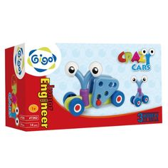 Buy Gigo - Crazy Cars Piece) at Mighty Ape NZ. Create an assortment of models by combining components Directions provided for 3 beginner models to immediately start enjoying learning Creativel. Crazy Cars, Weird Cars, Muscular Development, Family Outing, Baby Gear, Kids Rugs, Learning, Engineer, Create
