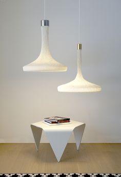 elizabeth salonen hand-knits loop lamp collection