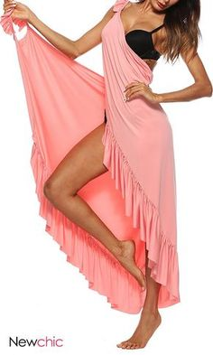 Special dresses for women, super simple wear. Sexy Beach Flouncing Cross Wrap Ba… Special dresses for women, super simple wear. Backless Maxi Dresses, Beach Dresses, Women's Dresses, Fashion Dresses, Summer Dresses, Beach Outfits, Casual Dresses, Summer Outfits, Plus Size Bikini Bottoms