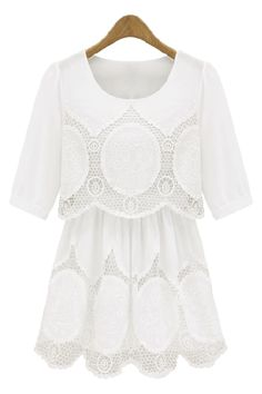 Well this is just all kinds of pretty! Bohemian crochet layered tunic as seen on Emma Watson