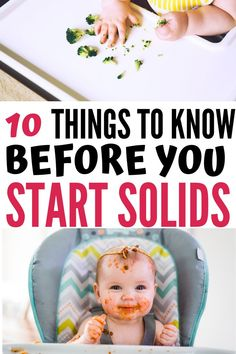 The complete guide to how to start feeding baby solids. Read my tips for how to introduce solid foods to baby, how to find out when baby is ready for solids, a quick approach to baby led weaning, common first foods for baby, and more! Baby Led Weaning Breakfast, Baby Led Weaning First Foods, Baby First Foods, Baby Weaning, First Baby, Weaning Toddler, Baby Solid Food, Baby Food By Age, Food Baby