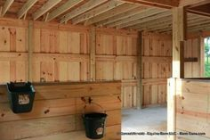 Barn Plans - Stall Horse Barn With Tack and Feed. Horse Barn Plans for sale. Large selection of Horse Barn Plans For Sale. Barn Stalls, Horse Stalls, Small Horse Barns, Miniature Ponies, Horse Barn Designs, Backyard Barn, Barn House Design, Horse Shelter, Horse Barn Plans
