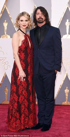 Other fails: Artist Christine Scuilli, the wife of composer Carter Burwell, appeared to have a coffee stain down the lower part of her dress, while Dave Grohl's wifeJordyn Blum sported a gown that could have been ripped from a bordello's walls