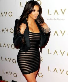 Kim K.. I like that Alaia dress ♥