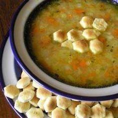 Carrots, potatoes, onion and cabbage are simmered together, then pureed to make this super-easy vegetable soup. It's delicious served with soured cream and a crusty roll. Cabbage Potato Soup, Cabbage Soup Recipes, Vegetarian Cabbage, Vegetarian Recipes, Healthy Recipes, Healthy Food, Yummy Recipes, Yummy Food, Easy Vegetable Soup