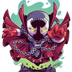 Chibi Spawn along with a handful of other new prints will all be available at midnight tonight EST. Don't miss out on my summer sale at www.dereklaufman.com (link in my profile) I'll be bringing all these new prints to FanExpo Canada this week! Hope to see you there! #spawn #chibi #fanart #fanexpo #fanexpocanada #dereklaufman #mangastudio