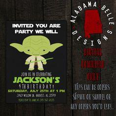 Yoda Birthday Invitation