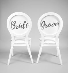 Bride and Groom Silver calligraphy £25  per chair to hire