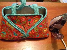 The Painted Quilt: Easy-Peasy Travel Iron Caddy & includes link to pattern with instructions