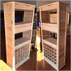 50 Wood Pallet Wardrobe DIY Motive Ideas: These pallet wardrobe plans are simple and handicrafts to construct for the renovation of your home as well as to Wooden Pallet Projects, Wooden Pallet Furniture, Recycled Furniture, Wooden Pallets, Pallet Ideas, Pallet Wood, Skid Furniture, Pallet Wardrobe, Pallet Closet