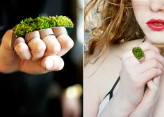Growing Jewelry | couture meets organism to draw man back towards nature...interesting