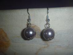 silver tone spherical dangle earrings, handmade earrings Bird Earrings, Pearl Earrings, Drop Earrings, Hand Jewelry, Unique Jewelry, Free Silver, Star Shape, Poet, Earrings Handmade