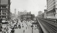 New York ,1903.Herald Square, NYC panoramic view.Vintage New York City art print, New York wall art poster.