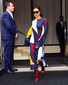 Victoria Beckham Wearing Graphic Print Outfit   POPSUGAR Fashion