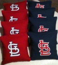 Cornhole bags St. Louis Cardinals red/blue duck cloth