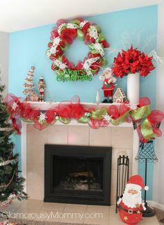 Gorgeous Christmas Mantle Decor