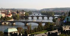 A view from Park Letna in Prague.