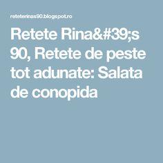 Retete Rina's 90, Retete de peste tot adunate: Salata de conopida