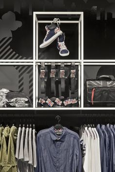 ♂ Retail store masculine interior design MINI popup store by Studio 38
