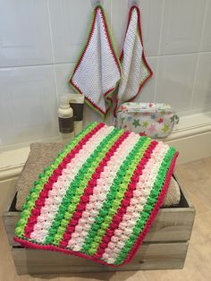ideas for bath mat crochet pattern baby blankets Quick Crochet, Free Crochet, Knit Crochet, Crochet Baby, Crochet Chain, Crochet Afgans, Waffle Stitch, Bobble Stitch, Crochet Stitches Patterns