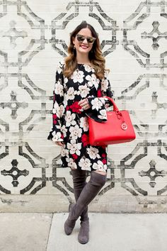 CeCe Floral Bell Sleeve Dress