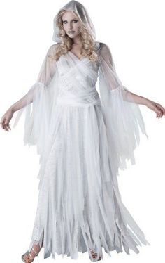 Incharacter Costumes Women's Haunting Beauty Ghost Costume, White/grey, Small #InCharacter
