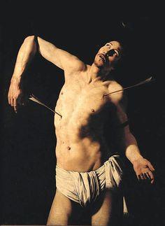 School of Caravaggio, Saint Sebastian, 17th century