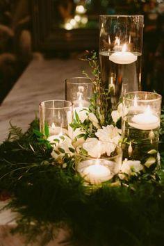 Floral Wreath Wedding Centerpieces