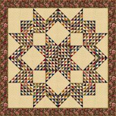 Triangle Star quilt pattern by Edyta Sitar