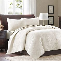 Madison Park Montague 3 Piece Coverlet set - Beige - King