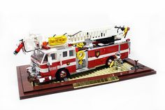 Fire truck complete with Chrome Lego City Fire Truck, Lego Truck, Fire Trucks, Lego Wheels, Lego Fire, Lego Worlds, Cool Lego Creations, Lego News, Lego Design