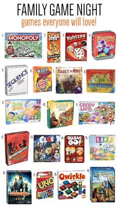 Best Family Board Games, Family Fun Games, Family Fun Night, Family Family, Preschool Board Games, Board Games For Kids, Good Board Games, Best Games For Kids, Games For Two People