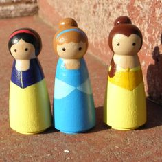 princess peg dolls--same idea as super hero peg dolls