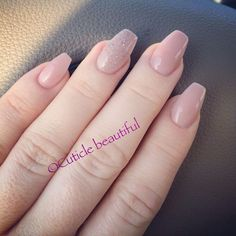 Balarina shaped nails