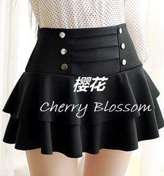 falda con botones holanes kawaii cute ropa japonesa coreana