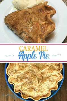 Do you love dipping apples in caramel? Then you'll LOVE Farmhouse Caramel Apple Pie! This decadent pie with a streusel is the perfect apple dessert! Best Apple Desserts, Famous Desserts, Best Dessert Recipes, Easy Desserts, Delicious Desserts, Yummy Food, Potluck Recipes, Traditional Thanksgiving Recipes, Easy Thanksgiving Recipes