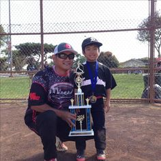 Kody with Coach Ren after winning the Pinto Cup