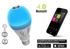 Awox AromaLight is a stylish essential oil diffuser integrated with a variable low-energy LED light bulb that can be controlled with a smartphone. Comes in colored bulbs and regular.