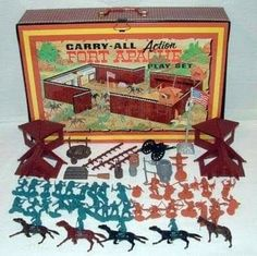 Vintage Toys Before there were video games.got this for Christmas - this and Lincoln Logs were our go to on rainy days - Retro Toys, Vintage Toys, 1960s Toys, Vintage Games, My Childhood Memories, Childhood Toys, Tarzan, Chateau Fort Jouet, Forte Apache