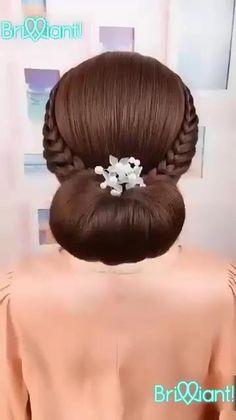 Cute Hairstyles For Medium Hair, Medium Hair Styles, Braided Hairstyles, Cool Hairstyles, Hair Style Vedio, Black Hair Video, Front Hair Styles, Princess Hairstyles, Gorgeous Hair
