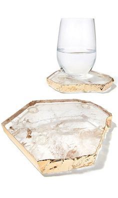 Quartz Crystal Rock Coasters