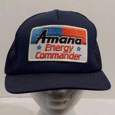 Amana Energy Commander Vintage Baseball Truckers Cap Hat Snap Back by LouisandRileys on Etsy