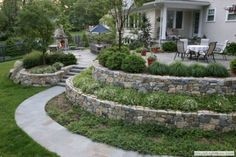 24 Small Sloped Backyard Landscaping Ideas for Best Backyard Inspiration Cheap Landscaping Ideas, Sloped Backyard Landscaping, Inexpensive Backyard Ideas, Sloped Yard, Backyard Ideas For Small Yards, Farmhouse Landscaping, Landscaping Software, Sloping Backyard, Landscaping Shrubs