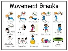 Movement & Sensory Break Visuals for Students with Autism. Great for early intervention or special education classrooms. Help children to regulate themselves and their emotions. Physical Activities For Kids, Movement Activities, Gross Motor Activities, Dementia Activities, Music Activities, Gross Motor Skills, Pediatric Physical Therapy, Pediatric Ot, Occupational Therapy Activities